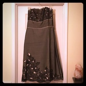 White House Black Market strapless dress